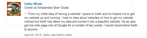 Web Design and SEO Yorkshire Testimonial