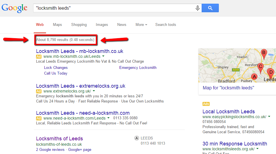SEO Company Leeds Locksmith Search