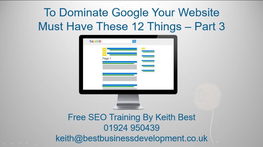 12 Website SEO Optimisations Part 3 Thumbnail