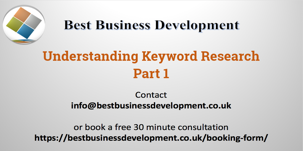 Understanding Keyword research Part 1 FB Twitter Image