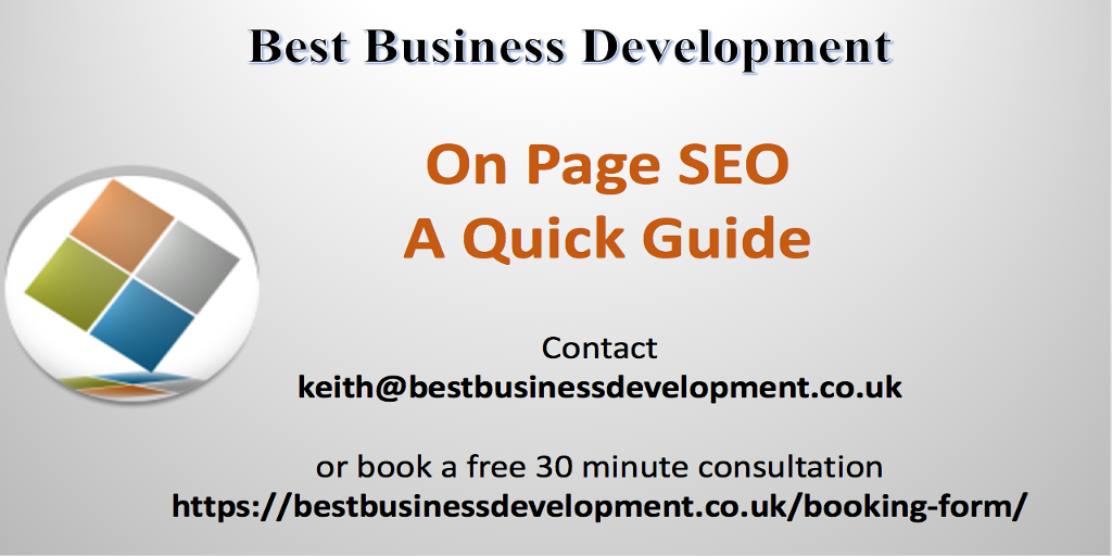 On Page SEO A Quick Guide