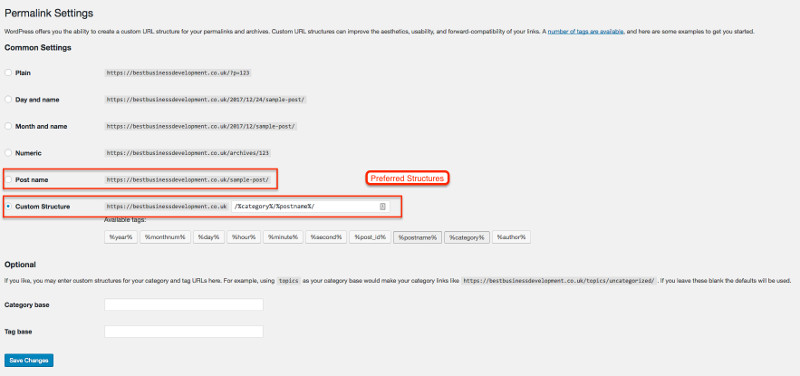 Setting Your Permalinks For Better SEO